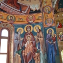 Fresca Alba Iulia vedere Apsida Nord Maica Domnului Platytera Sf. Cuv. Ioanichie cel Mare Sf. Cuv. Eftimie cel Mare Sf. Ana cu Maica Domnului