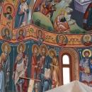 pictura bizantina   Fresca Alba Iulia vedere Apsida Sud Sf. Dreptul Ioachim Sf. M. Mc. Gheorghe Iisus Hristos Deisis Maica Domnului Sf. Prooroc Ioan Botezatorul Sf. Mc. Teodor Stratilat