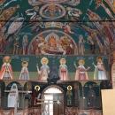 Fresca Alba Iulia vedere Pronaos perete Cafas Sfinti Martiri Brancoveni Adormirea Maicii Domnului