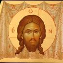 Icoana pe lemn Sfanta Mahrama, foita de aur 24 K  pictura bizantina