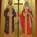 pictura bizantina   Sf. Imp. Constantin si Elena icoana pe lemn