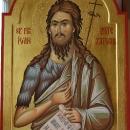 icoana pe lemn Sf Ioan Botezatorul  60x85, foita de aur 24 K