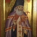 Icoana pe lemn Sf. Ier. Luca Arhiepiscopul Crimeei, foita de aur 24 K  pictura bizantina